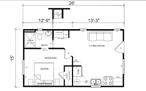 one bedroom cabin floor plans small home floor plan
