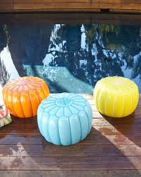 Outdoor Moroccan Furniture by Outdoor Moroccan Pouf