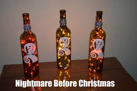 Halloween Party Lights Nightmare Before Christmas Wine Bottle Lights Jack And Sally Lot