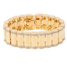 gold swarovski bracelet images Vintage gold bullet swarovski bracelet jpg