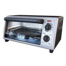 Toast In Toaster Oven Black Decker 4 Slice Black And Stainless Steel Toaster Oven