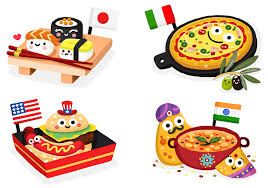 matthew illustration food from around the world