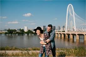 meghan ricky a styled downtown dallas engagement session