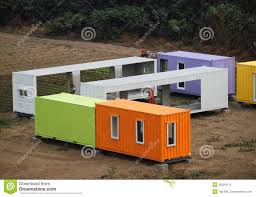colorful container houses are assembled stock image image 36324171