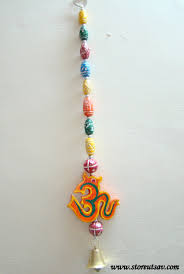 handcrafted home decor rajasthani door wall hanging wooden om with multicolored