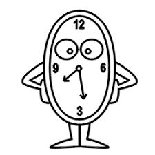 drawing cartoon clock