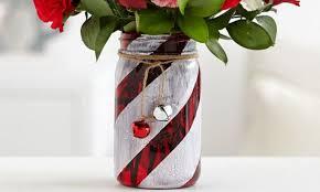 Display Vase How To Make A Festive Candy Cane Mason Jar Vase