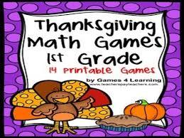 thanksgiving math grade 1