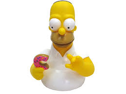 amazon com simpsons the homer with donut bust bank action figure