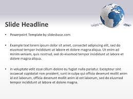world puzzle powerpoint template slidesbase