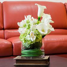 Home Decor Flower Arrangements Real Touch Calla Lily Arrangement Hydrangea Arrangement By Flovery