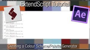 extendscript tutorial creating a colour scheme generator youtube