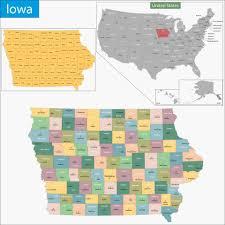 map of iowa maps of iowa map geeks