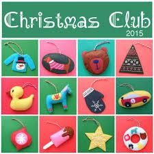 club 2015 twelve felt ornament patterns shiny