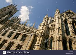 Kingdom Centre York Minster Cathedral Facade York City Centre Uk United Kingdom