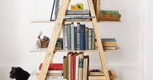 Diy Ladder Bookshelf Diy Ladder Shelves The Creative Route