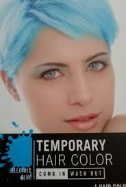 How To Wash Hair Color Out - amazon com temporary hair color electric blue comb in wash