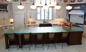 glass top kitchen island kitchen cooking activity with stylish glass kitchen
