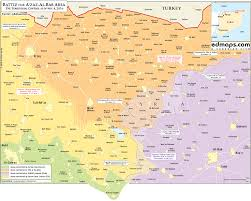 Map Of Northeast Syria War Map Military Situation In Northeast Of Aleppo City On