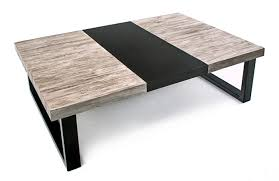 gray reclaimed wood coffee table modern chic cocktail table modern rustic gray wash
