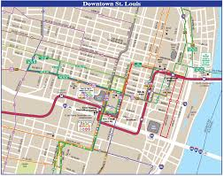 Map St Louis Saint Louis Downtown Transport Map U2022 Mapsof Net