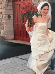 my wedding dress was living rent free in my head so i turned it