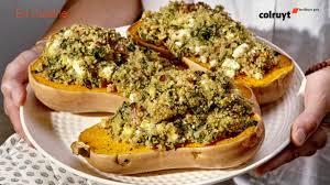 colruyt recettes de cuisine recette butternut au quinoa aux épinards et à la feta colruyt