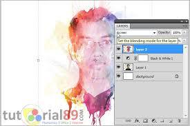 cara membuat watercolor abstrak dengan photoshop cara membuat efek watercolor dengan photoshop video tutorial89