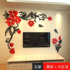 living room wall stickers crystal three dimensional wall stickers living room tv wall