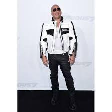 white motorcycle jacket fast and furious 7 premiere vin diesel white leather motorcycle
