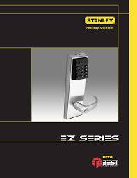 stanley black u0026 decker door keypad ez locks user guide