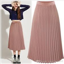 pleated skirts 2017 fashion tea length pleated skirts for women 2017 summer