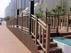 Plastic Handrail Fibercon Outdoor Flooring Pvc Decking In Jatoba Horizon Railing