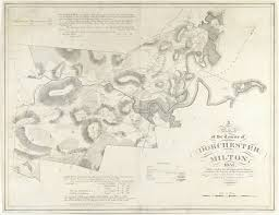 1820 Map Of United States by First Separate Map Of Dorchester And Milton Mass Rare