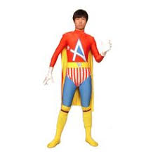 full body dark gray lycra spandex back zipper superhero zentai