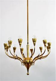 Brass Chandelier Vintage Italian Brass Chandelier From Lumi Milano For Sale At Pamono