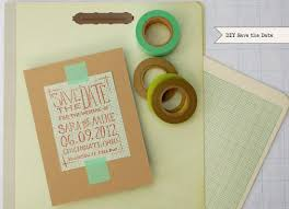 Make Your Own Save The Dates Handmade Save The Date Magnets Modern Homemade
