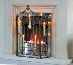 athelburgh abbey u201d wrought iron fire screen fire guards u0026 screens
