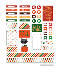 To Do Stickers Free Happy Planner Stickers For Halloween And Fall Liz On Call
