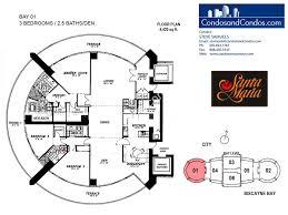 3 Bedroom Condo Floor Plan by Bayfront U0026 Waterfront Condos For Sale Brickell Miami Condos