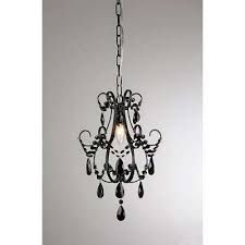 Iron Chandelier With Crystals Black Crystal Chandeliers Hanging Lights The Home Depot