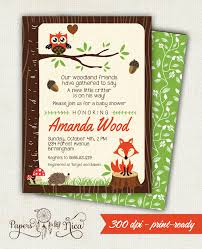 printable owl baby shower invitations enimex us