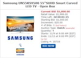 bid 4 it gibbys samsung ks9500 curved 1000 starting bid 4 units