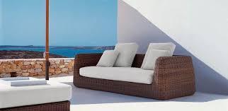 canapé tressé canapé contemporain de jardin en tissu acrylique en résine