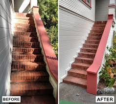 Exterior Stair Railing by Before U0026 After Exterior Stair Railing Meryl And Miller Llc