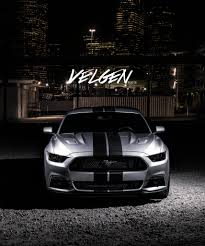 Silver Mustang With Black Stripes Silver Mustang With Black Stripes On Velgen Custom Rims U2014 Carid