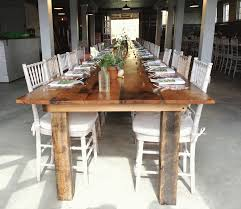 Barnwood Dining Room Tables by Reclaimed Barnwood Farm Tables Something Vintage Rentals