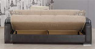 Modern Furniture Depot by U0026 Leather Two Tone Modern Sofa Bed W Optional Items