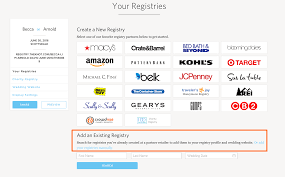 how to find wedding registry where can i find my wedding registry page customer feedback