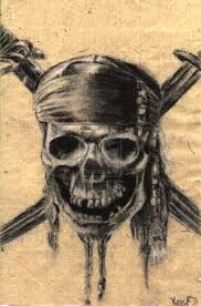 pirates of the caribbean skull by kv arts captain captain jack